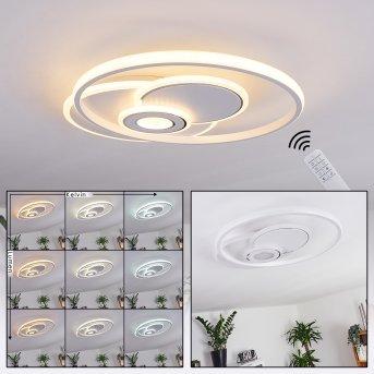 Panchita Ceiling Light LED white, 1-light source, Remote control