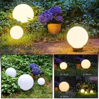 CAMPINAS Globe lights LED black, white, 1-light source