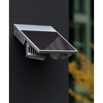 Lutec TILLY outdoor wall light LED silver, 1-light source, Motion sensor