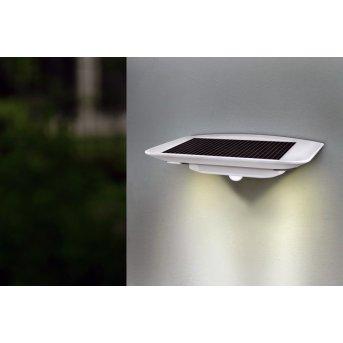 Lutec GHOST SOLAR outdoor wall light LED silver, 1-light source, Motion sensor