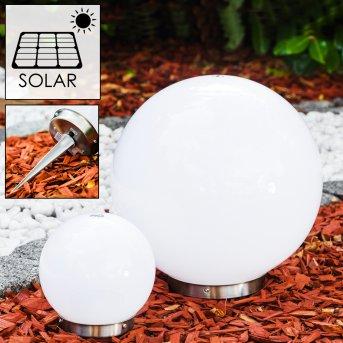 Solar light balls LED stainless steel, 2-light sources