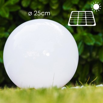 Solar globe light LED stainless steel, 2-light sources