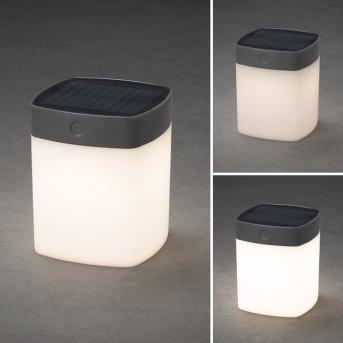 Konstsmide ASSISI solar light LED grey, 1-light source