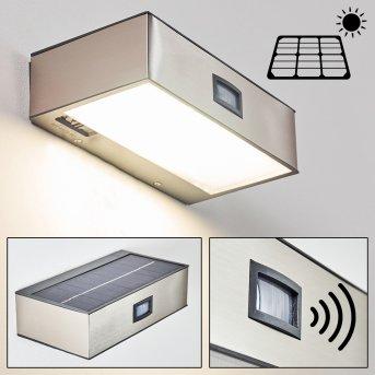 outdoor wall light LED matt nickel, 1-light source