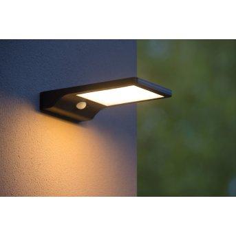 Lucide BASIC Outdoor Wall Light LED black, 1-light source, Motion sensor