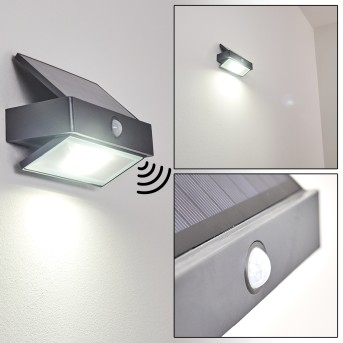 Wiborg Outdoor Wall Light LED anthracite, 1-light source, Motion sensor