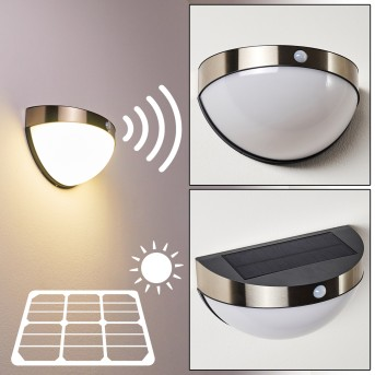 BASRA solar light LED chrome, 1-light source, Motion sensor