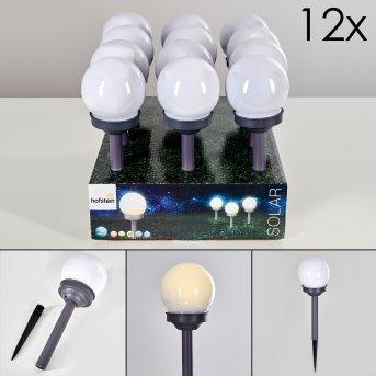 HAKON Set of 12 garden lights LED grey, 1-light source