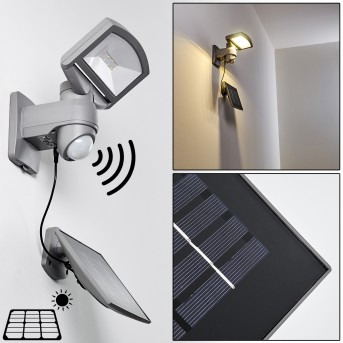 Outdoor Wall Light Larvik LED grey, 1-light source, Motion sensor