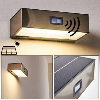Outdoor Wall Light Attu LED matt nickel, 1-light source, Motion sensor