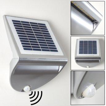 LESUM Outdoor Wall Light LED silver, 1-light source, Motion sensor