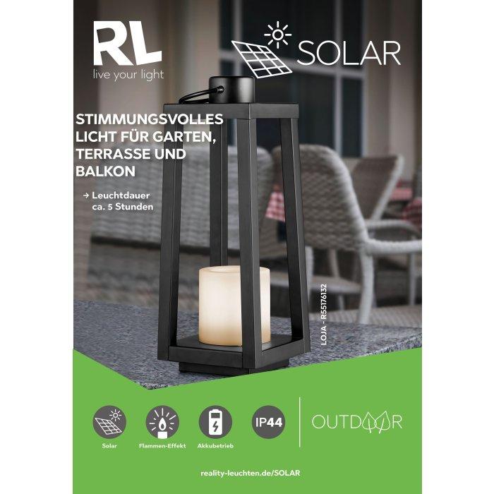 Reality Loja Table Lamp Led Black, Electric Lantern Table Lamps