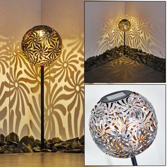 Gilbert solar light LED silver, 1-light source