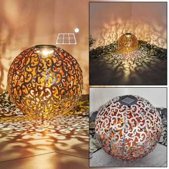 Paradiski solar light LED silver, copper, 1-light source