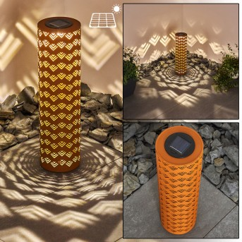 Parikia solar light LED rust-coloured, 1-light source