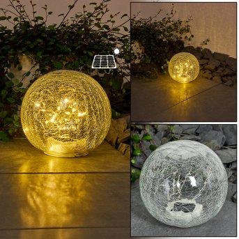 Jurmala solar light LED transparent, clear, 1-light source