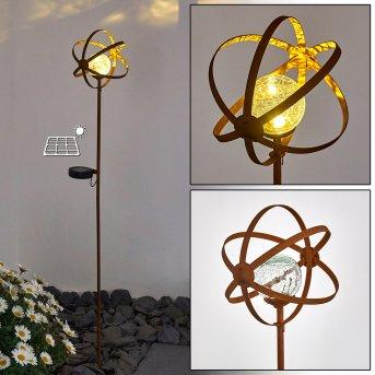 Yonkers solar light LED rust-coloured, 1-light source