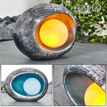 Interlaken solar light LED blue, grey, silver, 1-light source