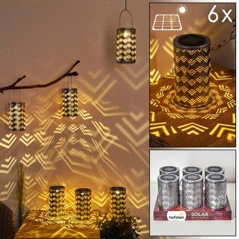PARIKIA solar light LED silver, copper, 1-light source