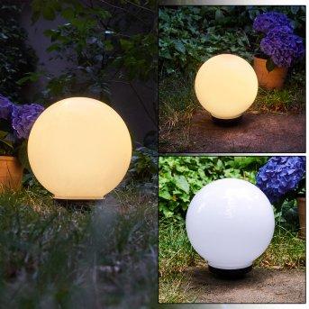 CAMPINAS globe light LED black, white, 1-light source