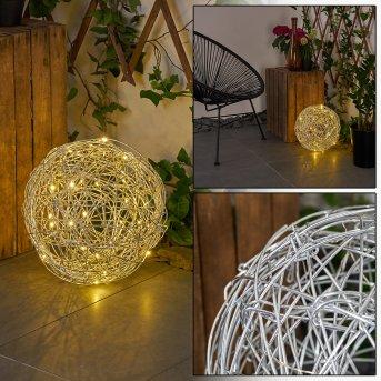 RAPALLO solar light LED silver, 30-light sources
