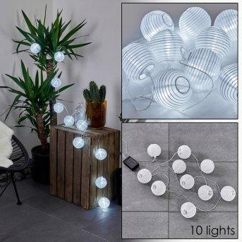REDDING Solar fairy light LED white, 10-light sources