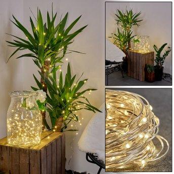 PISTOIA Solar fairy light LED white, 120-light sources