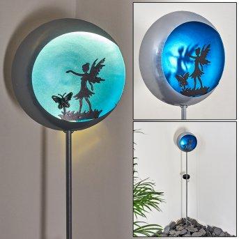 LOANO solar light LED blue, silver, 1-light source