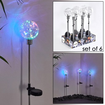 LIBEREC solar light LED silver, 1-light source, Colour changer