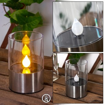 WROCLAW solar light LED silver, 1-light source