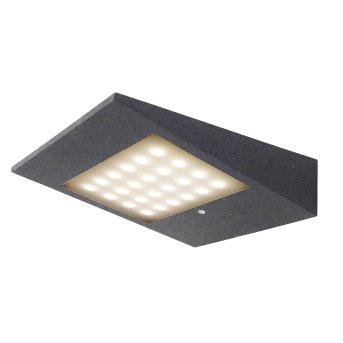CMD AQUA SOLAR Outdoor Wall Light LED anthracite, 1-light source, Motion sensor
