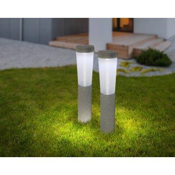 Globo Set of 2 solar lights LED grey, 1-light source