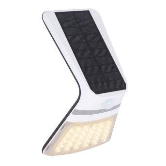 Globo Solar Outdoor Wall Light LED black, 1-light source, Motion sensor
