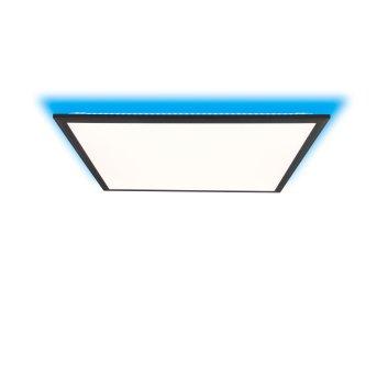 Brilliant Allie Ceiling Light LED black, 1-light source, Remote control