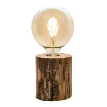 Nino-Leuchten TRONCO Table lamp Dark wood, 1-light source