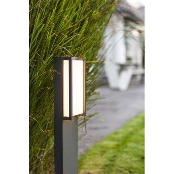 Lutec QUBO path light LED anthracite, 1-light source, Colour changer