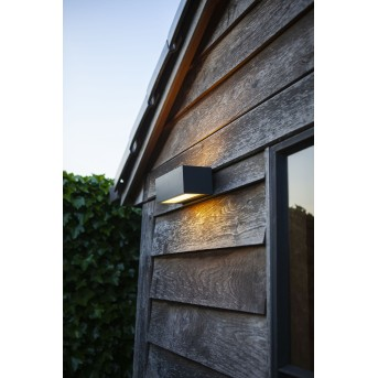 Lutec GEMINI Outdoor Wall Light LED anthracite, 2-light sources, Colour changer