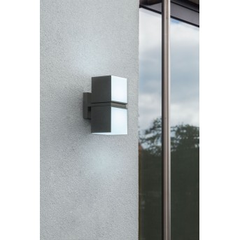 Lutec CUBA Outdoor Wall Light LED anthracite, 2-light sources