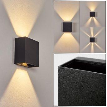 Spidern Outdoor Wall Light LED black, 1-light source