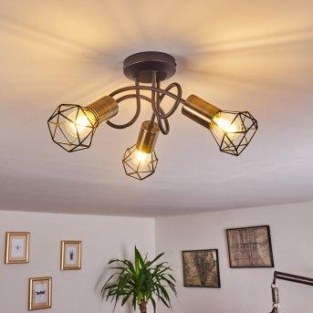 Baripada Ceiling Light brass, black, 3-light sources