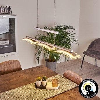 Bolonda Pendant Light LED matt nickel, 3-light sources
