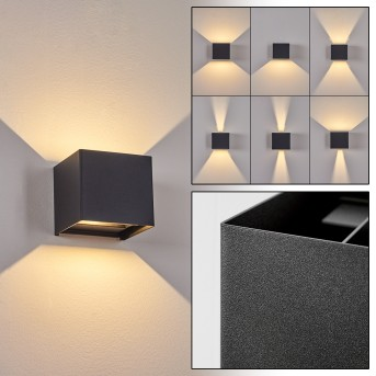 Everton Outdoor Wall Light LED black, 2-light sources