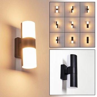 Baulund Outdoor Wall Light LED black, 1-light source