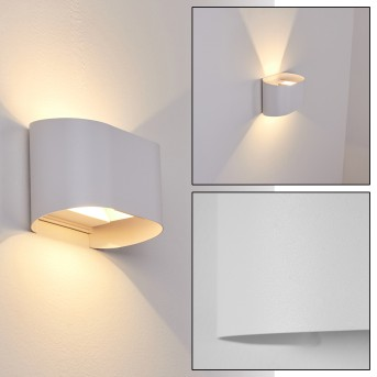 Everton Outdoor Wall Light LED white, 2-light sources