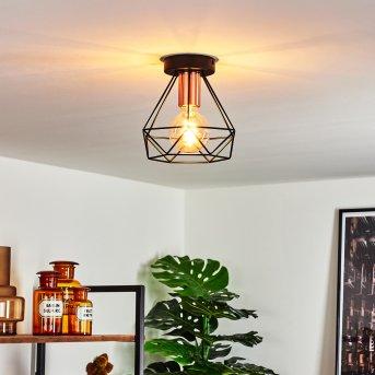 Denno Ceiling Light black, copper, 1-light source