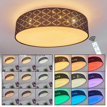 Meldal Ceiling Light LED white, 2-light sources, Remote control, Colour changer