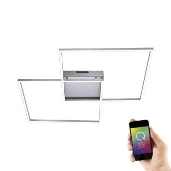 Paul Neuhaus Q-Inigo Ceiling Light LED stainless steel, 2-light sources, Remote control