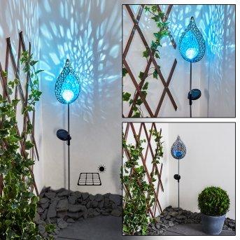 Rovinj solar light LED blue, silver, 1-light source
