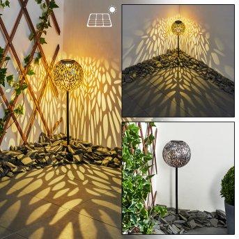 Samoao solar light LED black, silver, copper, 1-light source