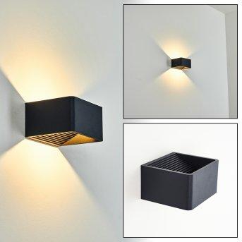 Tématou Outdoor Wall Light LED black, 1-light source